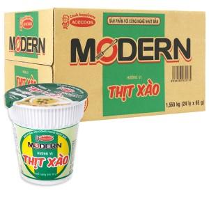 Thùng 24 ly mì Modern thịt xào 65g