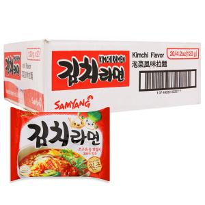 Thùng 20 gói mì Samyang kim chi ramen 120g