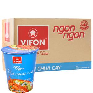 Thùng 24 ly mì Vifon Ngon Ngon tôm chua cay 60g