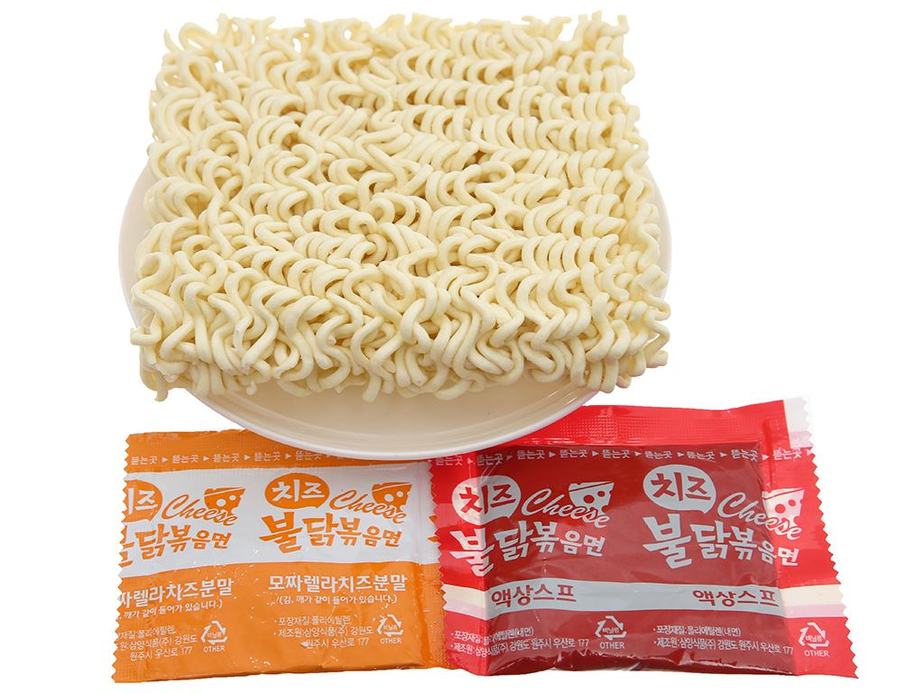 Thùng 40 gói mì khô gà cay Samyang vị phô mai 140g 4