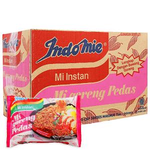 Thùng 40 gói Mì xào khô Indomie Mi Goreng Pedas cay nồng 79g