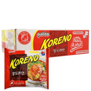 Thùng 24 gói Mì Koreno kim chi 100g