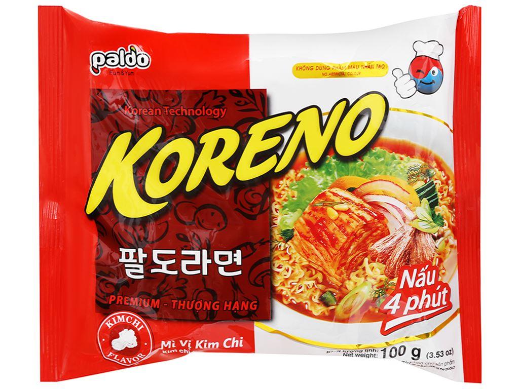 Thùng 24 gói mì Koreno vị kim chi 100g 6