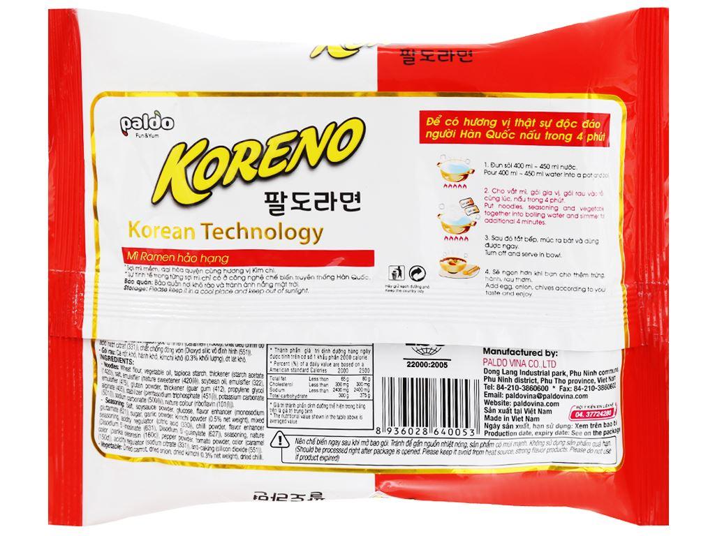 Thùng 24 gói mì Koreno vị kim chi 100g 7