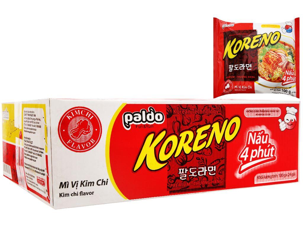 Thùng 24 gói mì Koreno vị kim chi 100g 1