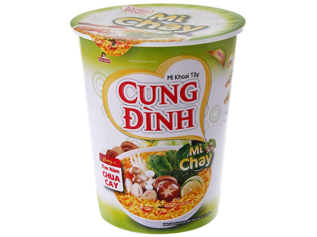 Thùng 24 ly Mì khoai tây Cung Đình rau nấm chua cay 70g 3