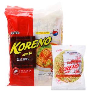 Túi 10 gói Mì Koreno Jumbo kim chi 1kg