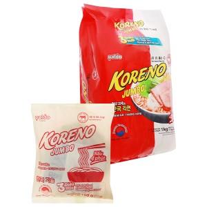 Túi 10 gói mì Koreno Jumbo vị bò cay 100g