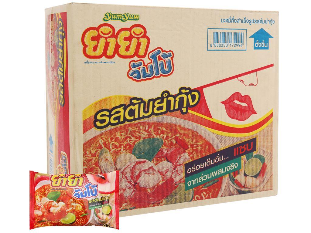 Thùng 30 gói mì YumYum vị Tom Yum Kung nước trong 67g 2