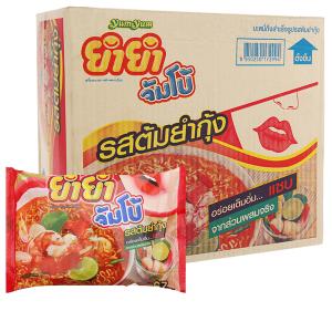 Thùng 30 gói mì YumYum vị Tom Yum Kung nước trong 67g