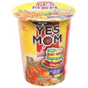 Mì Yes Mom cua tiêu đen xúc xích ly 76g