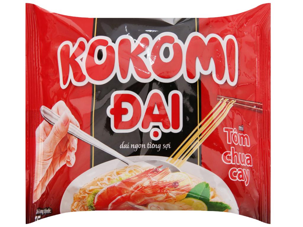 Thùng 30 gói Mì Kokomi Đại tôm chua cay 75g 4