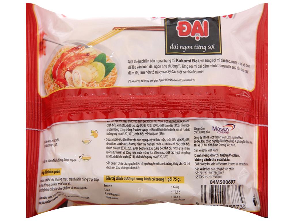 Thùng 30 gói Mì Kokomi Đại tôm chua cay 75g 5