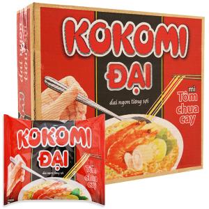 Thùng 30 gói Mì Kokomi Đại tôm chua cay 75g