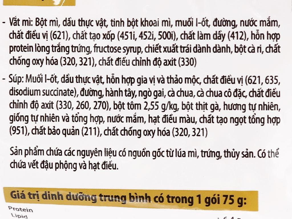 Thùng 30 gói mì Kokomi Đại tôm chua cay 75g 9