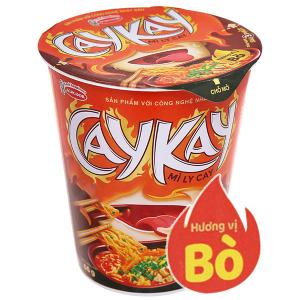Mì Caykay vị bò ly 66g