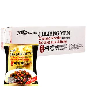 Thùng 16 gói mì trộn Paldo Jjajangmen vị tương đen 200g