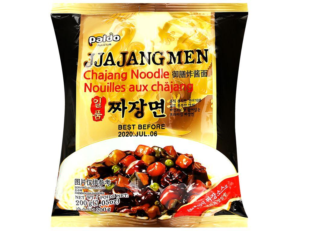 Thùng 16 gói mì trộn Paldo Jjajangmen tương đen 200g 2
