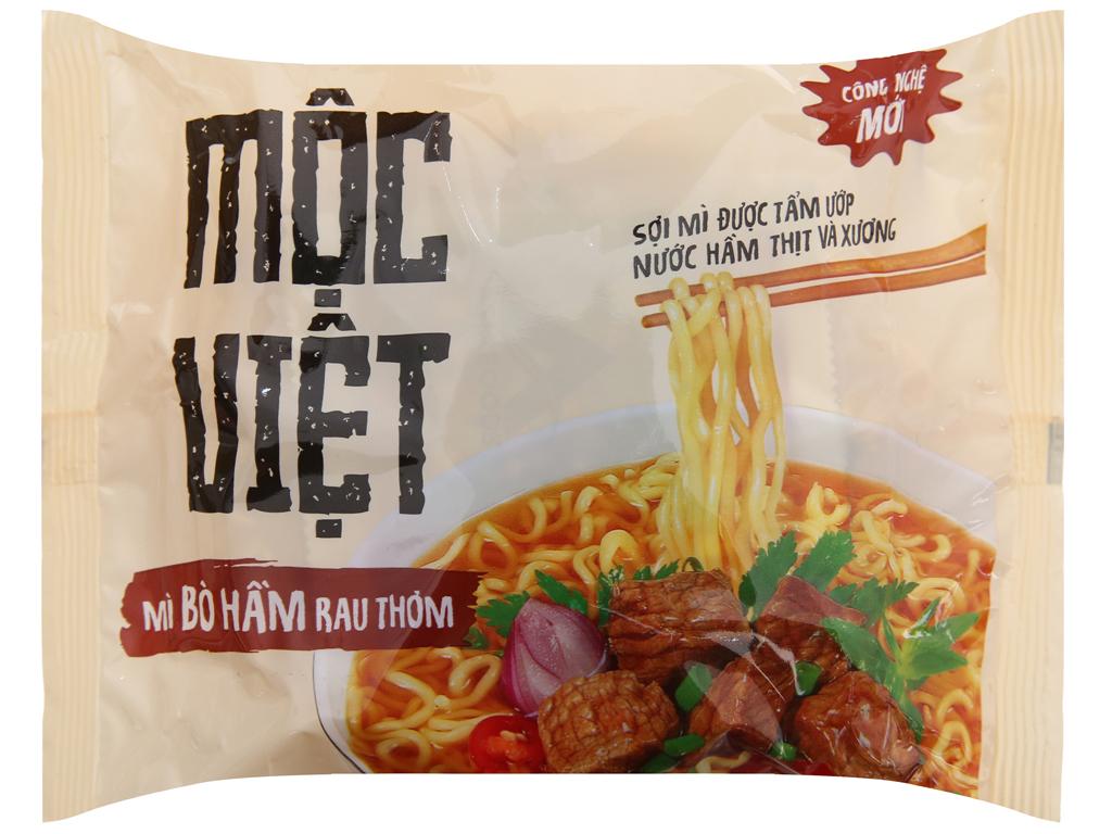 Thùng 30 gói Mì Mộc Việt bò hầm rau thơm 75g 3