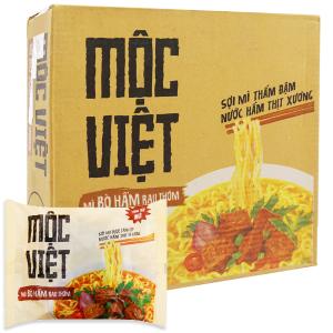 Thùng 30 gói Mì Mộc Việt bò hầm rau thơm 75g
