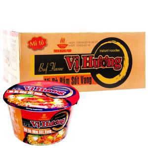 Thùng 12 tô mì Vị Hương bò hầm sốt vang 80g