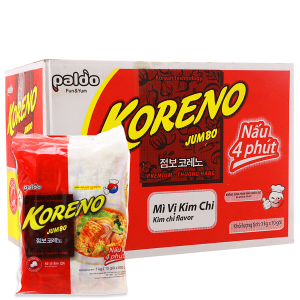 Thùng 10 túi Mì Koreno Jumbo kim chi 1kg