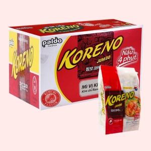 Thùng 10 túi mì Koreno Jumbo vị kim chi 1kg