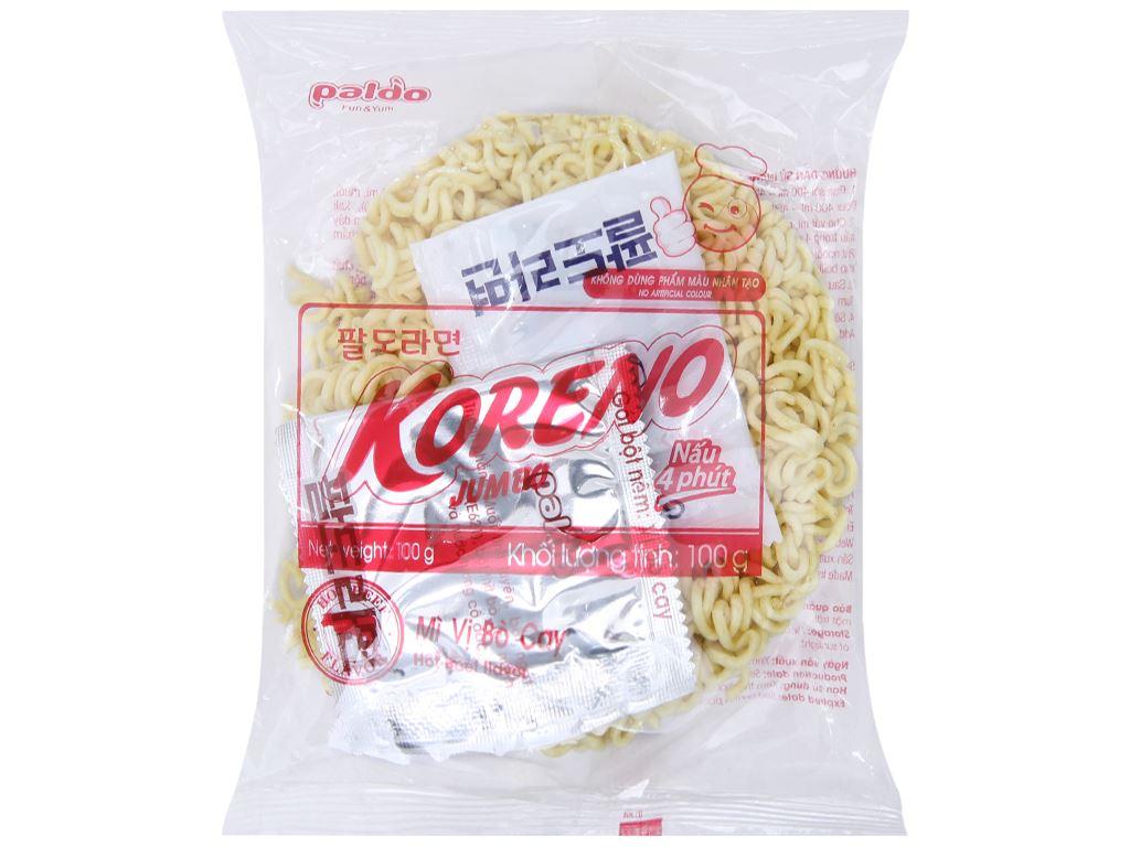 Thùng 10 túi mì Koreno Jumbo vị bò cay 1kg 4