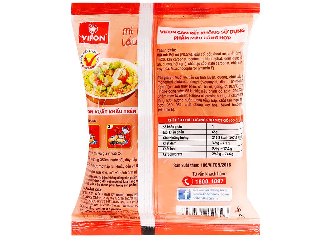 Thùng 30 gói mì Vifon chay lẩu Thái 65g 3