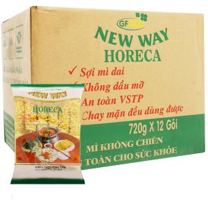 Thùng 12 gói mì không chiên New Way 720g