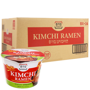 Thùng 12 tô Mì Jongga Kim Chi Ramen 140g