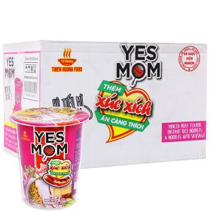 Thùng 24 ly hủ tiếu mì Yes Mom Yes Mom thịt bằm xúc xích 76g