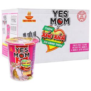 Thùng 24 ly hủ tiếu mì Yes Mom thịt bằm xúc xích 76g (có xúc xích thật)