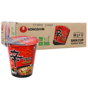 Thùng 12 ly mì cay Nongshim Shincup 68g