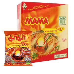 Thùng 30 gói mì Mama hương tôm sốt kem Tom Yum 55g