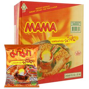 Thùng 30 gói mì Mama tôm sốt kem tom yum 55g