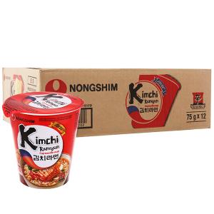 Thùng 12 ly mì Nongshim kimchi Ramyun 75g