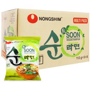Thùng 40 gói mì chay Nongshim Soon Veggie Ramyun 112g