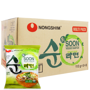 Thùng 40 gói Mì Nongshim Soon Veggie Ramyun chay 112g