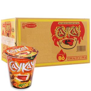 Thùng 24 ly mì Caykay vị bò 66g