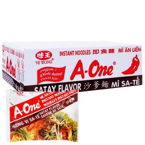 Thùng 30 gói mì A-One sa tế 85g