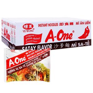 Thùng 30 gói mì sa tế A-One 85g