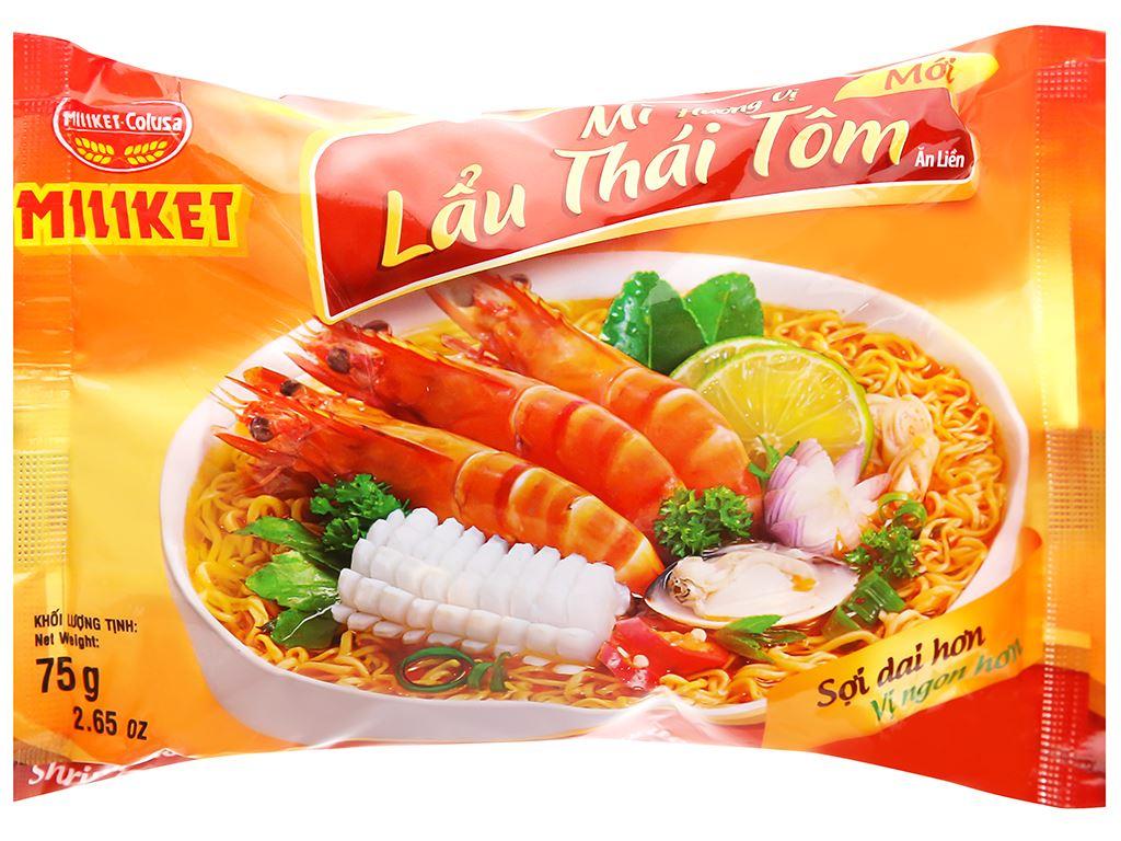 Thùng 30 gói mì lấu Thái tôm Miliket 75g 7