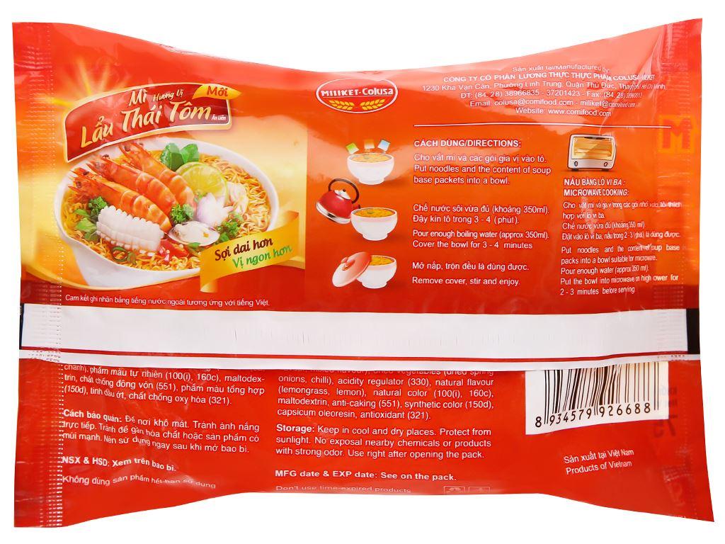 Thùng 30 gói mì lấu Thái tôm Miliket 75g 8