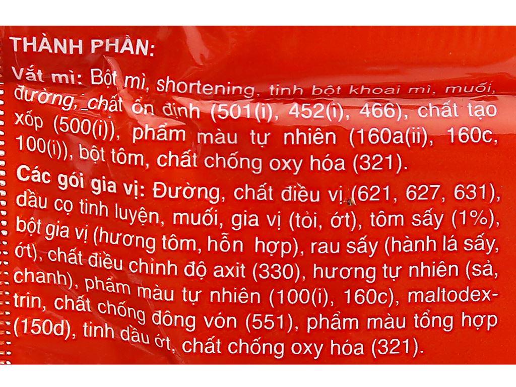Thùng 30 gói mì lấu Thái tôm Miliket 75g 9