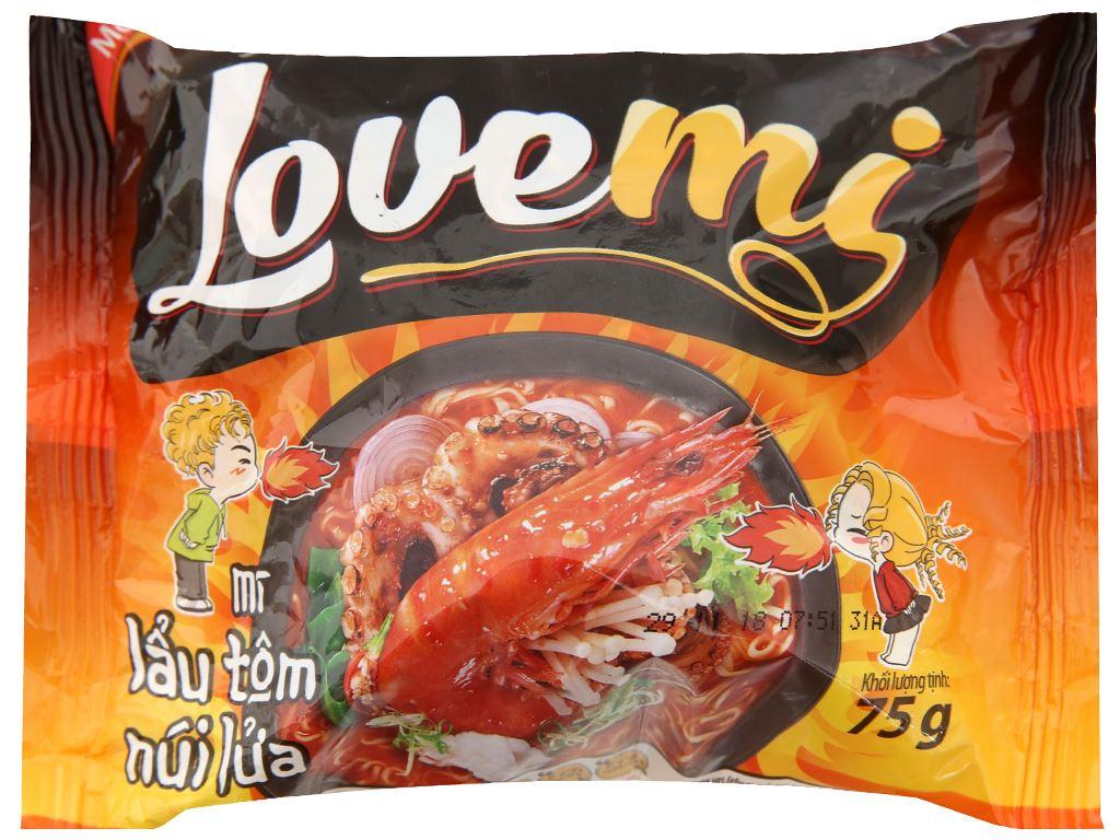 Mì Lovemi lẩu tôm núi lửa gói 75g 1