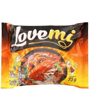 Mì Lovemi lẩu tôm núi lửa gói 75g