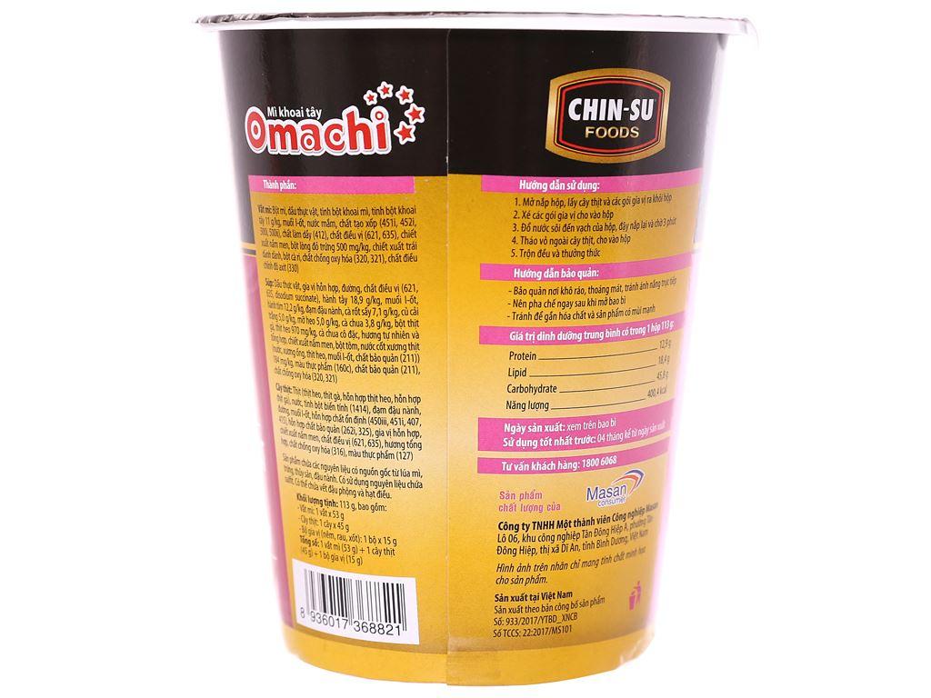 Mì khoai tây Omachi sườn hầm ngũ quả ly 113g 2
