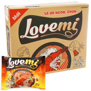 Thùng 30 gói Mì Lovemi lẩu tôm núi lửa 75g