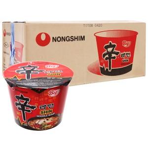 Thùng 16 tô mì cay Nongshim Shin Noodles 114g